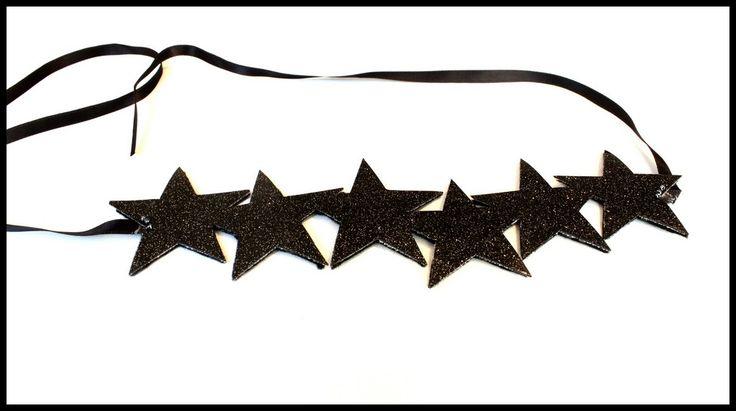 """Bandeau """"Star"""" noir pailleté"""