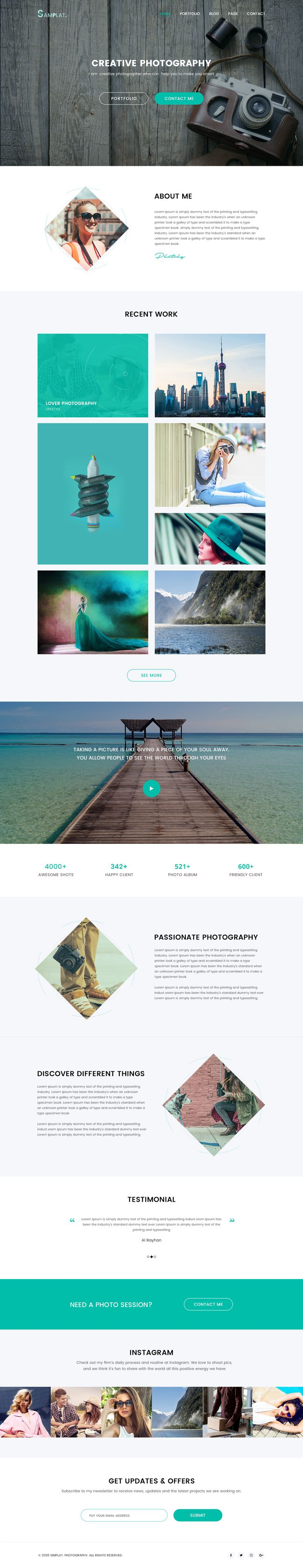 Photographer Portfolio Website – Website by Masum Parvej. If you like UX, design, or design thinking, check out theuxblog.c