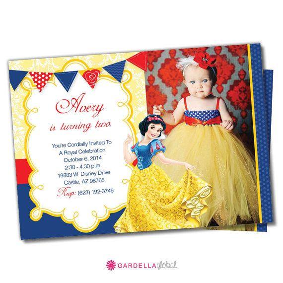 Snow White Invitation, Snow White Invitation, Snow White Birthday, Printable Snow White Invite, Birthday Party, Disney Princess Party Invite