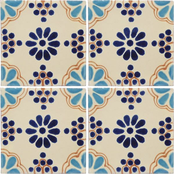 Mexican Tile - Turquoise & Blue Lace Mexican Tile