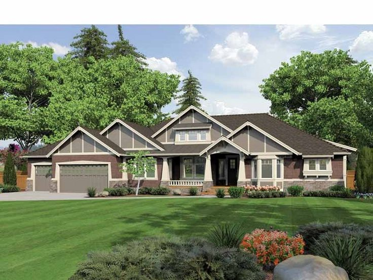 15 best images about house plans on pinterest house for One story ranch homes