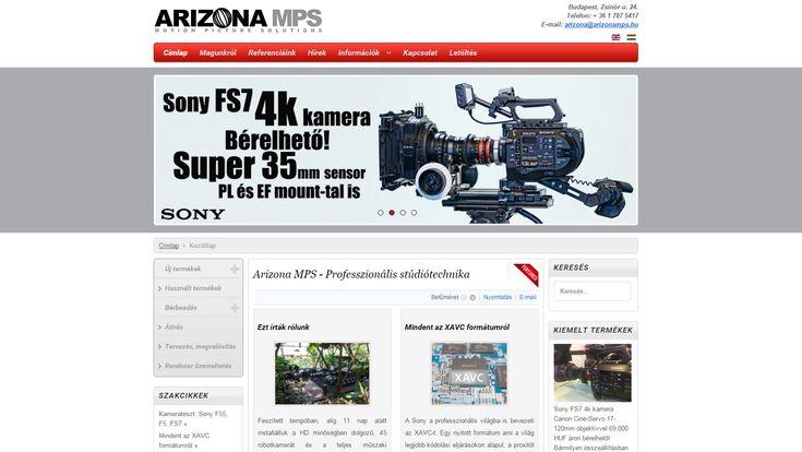 Arizona MPS - weboldala