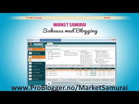 http://problogger.no/2013/02/10/market-samurai-suksess-med-blogging/ Klikk på linken for å få en gratis versjon av Market Samurai - Søkeordsanalyse verktøyet som du bør bruke for å komme høyt på Google og andre søkemotorer! Ta bloggingen din til neste nivå! #søkeord #blogg #blogging #blogge #gratis #market #samurai #seo #marketsamurai #google #yahoo #bing #søkemotoroptimalisering #suksess #free #gratis