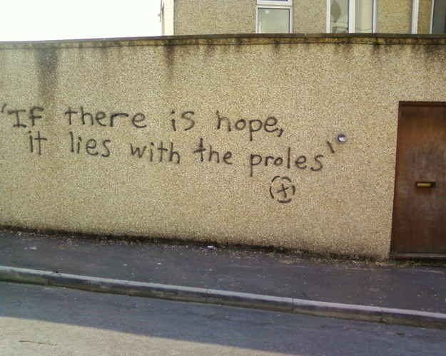 1984 – George Orwell. Swansea, Wales. | 28 Brilliant Works Of Literary Graffiti