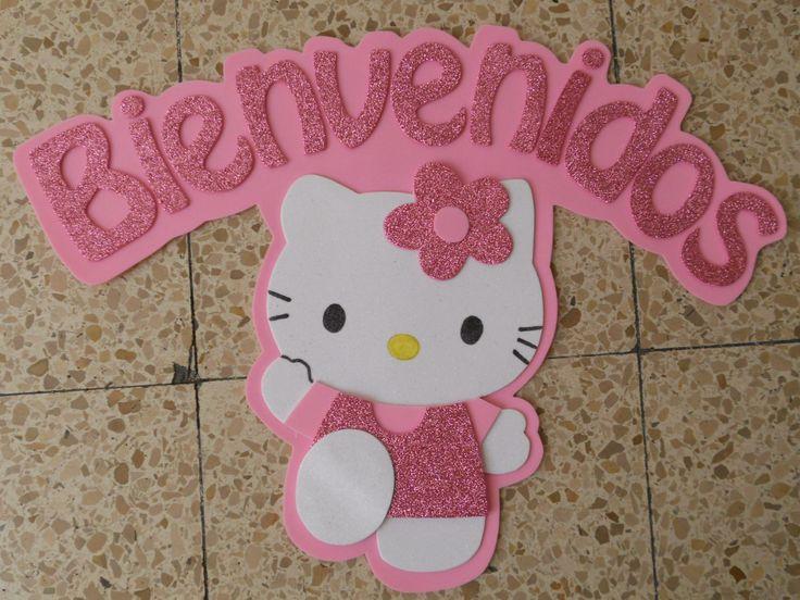 Letrero de Bienvenidos Hello Kitty