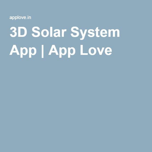 3D Solar System App | App Love