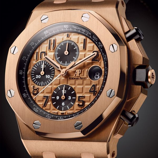 FORWARD- THINKING For 2014, six new iterations of the Royal Oak Offshore Chronograph 42mm are being launched - THE '26470' EVOLUTION A NOBLE LINEAGE Audemars Piguet Royal Oak Offshore Chronograph 42mm (See more at En/Fr/Es: http://watchmobile7.com/articles/audemars-piguet-royal-oak-offshore-chronograph-42mm) (5/10) #watches #audemarspiguet #royaloakoffshore @Audemars Piguet Piguet Piguet