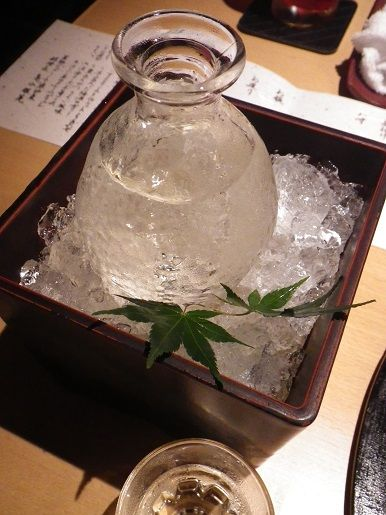 cold sake Japanese food