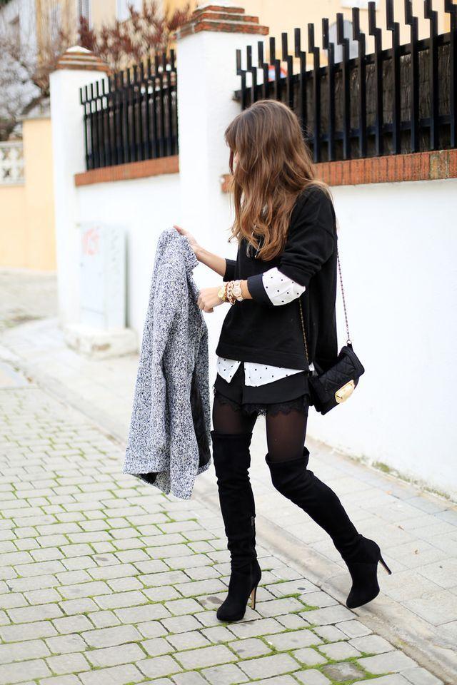 stivali sopra ginocchio | come indossare stivali