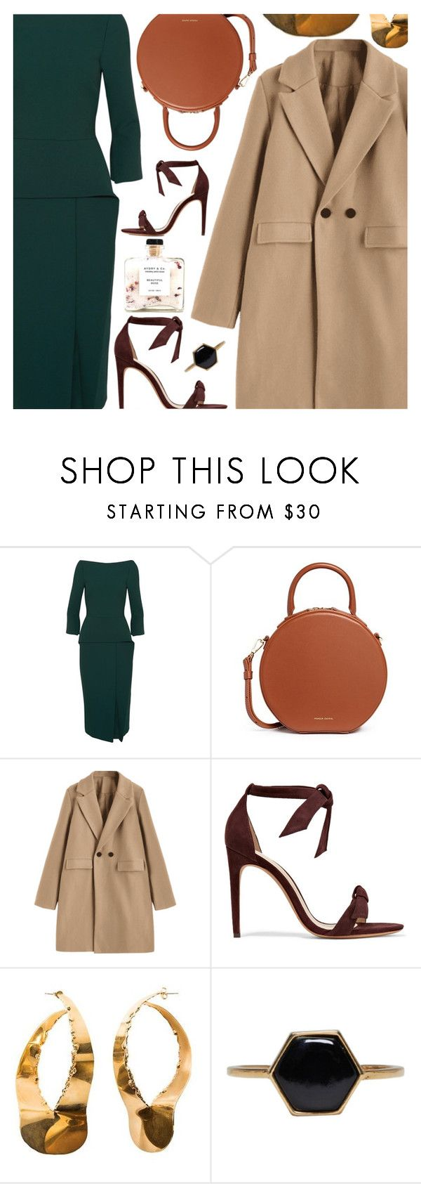 """Untitled #6631"" by amberelb ❤ liked on Polyvore featuring Roland Mouret, Mansur Gavriel, Alexandre Birman and Isabel Marant"
