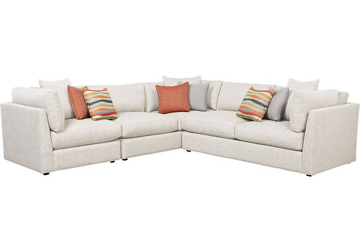Boca Raton Off-White Right Facing Closed 3 Pc Sectional .2288.0. 120W x 120D x 35.5H. Find affordable sofas for your home that will complement the rest of your furniture.
