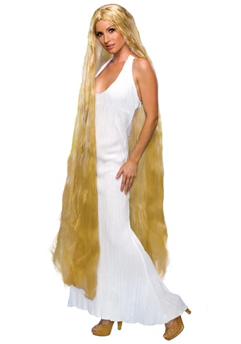 Womens Rapunzel Wig- only $16.99, could braid it and add some flowers to make it more rapunzelish.
