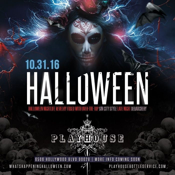L.A.'s mischievous hell-raisers are all taking to Playhouse Halloween for a night of devilish revelry. The city's in-the-know party monsters will don on their most seductive Halloween costumes to revel in the massive nightclub amid a sexy, high-octane atmosphere. Pass through the velvet ropes of Playhouse Hollywood on October 31st 2016 to experience a night of hell-fire energy, sinful escapades and naughty masquerade...the ultimate Halloween indulgence, tricked out with treats galore!