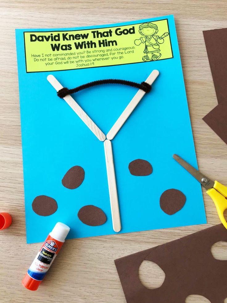 David and Goliath Sunday School Lesson Activities | Fun365 ...