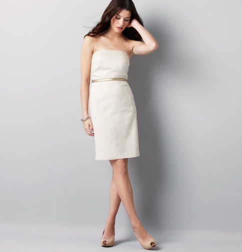 Strapless Linen Dress By Lela Rose From Loft Mariage