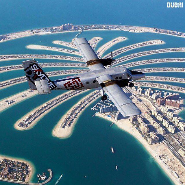 #Dubai Fly over the The Palm Jumeirah ➖➖➖➖➖➖➖➖➖➖➖➖➖➖➖➖➖ Photo Credit : @skydive_dubai