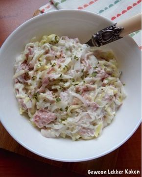 Ham-preisalade met rauwe ham