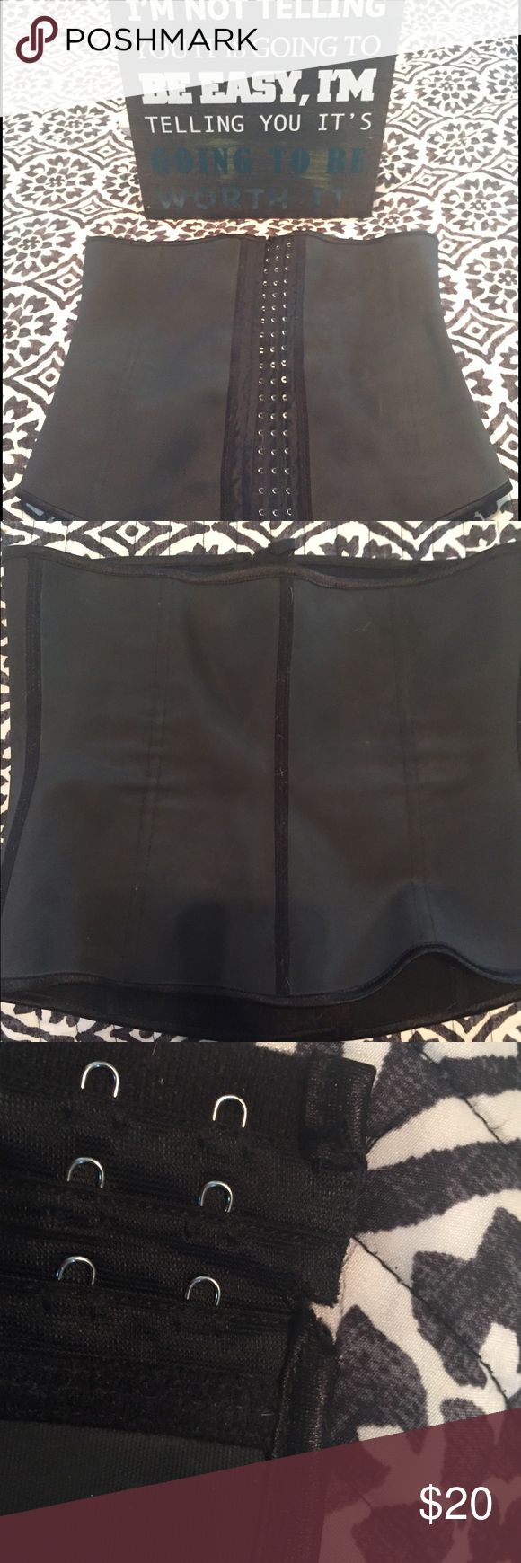 Hourglass Waist Trainer This is a hourglass Waist Trainer. It is has been gently used. You always want to buy a Waist Trainer that is 2 sizes too big, so if you wear a medium, then the XL would be perfect. There is a pull on one side, I have included in the pictures. It does not effect the ability of the waist trainer though. Other