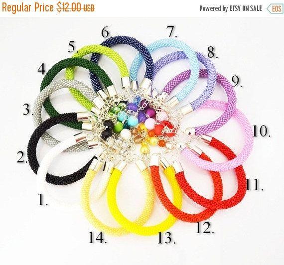 Seed Beads bracelet colors Bracelet crochet by SzkatulkaAmiJewelry