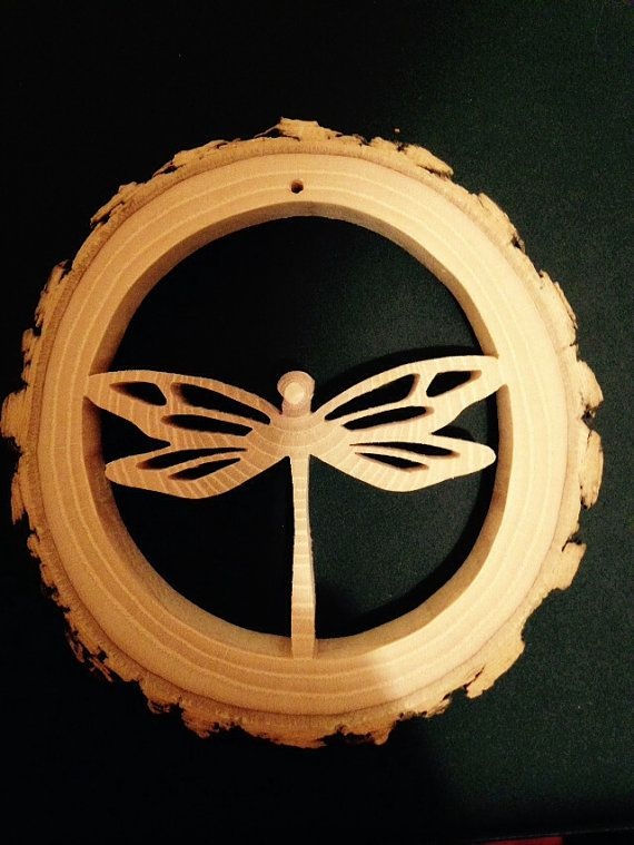 Hand-Crafted-Reclaimed-Tree-Slice-Dragonfly by RidersWoodWorks