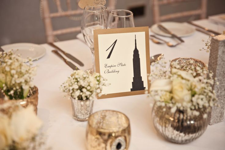 New York table names Kerry Ann Duffy #wedding #elegant #cream