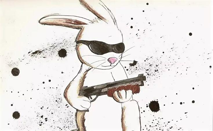 траве картинка злой заяц с двумя стволами аренде квартир красноярске