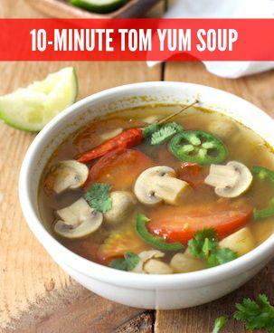 thai tom yum soup recipe with thai spices