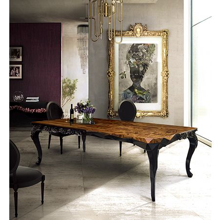 The Royal dining table embodies Boca do Lobo's true essence from its exceptional modern design, to its finishing details. Find more here: http://www.bocadolobo.com/en/limited-edition/tables-and-desks/royal/index.php