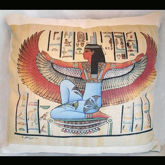 egyptian isis wings pillow Cover decorative throw pillows