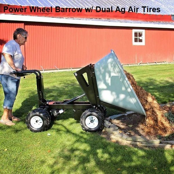 4 Wheel Power Drive And Dump Wheel Barrow 10 Cubic Foot Wheelbarrow Heavy Duty Wheels Cubic Foot