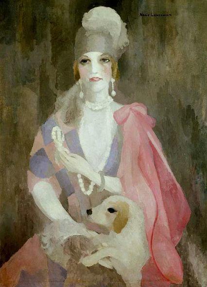 Marie Laurencin (1883-1956), 1923, La baronne Gourgaud, au manteau rose, oil on canvas, Centre Georges Pompidou.