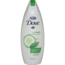 Dove, my go-to bodywash. My favorite is the Cucumber/Green Tea but I am dying to try their new Blue Fig scent!