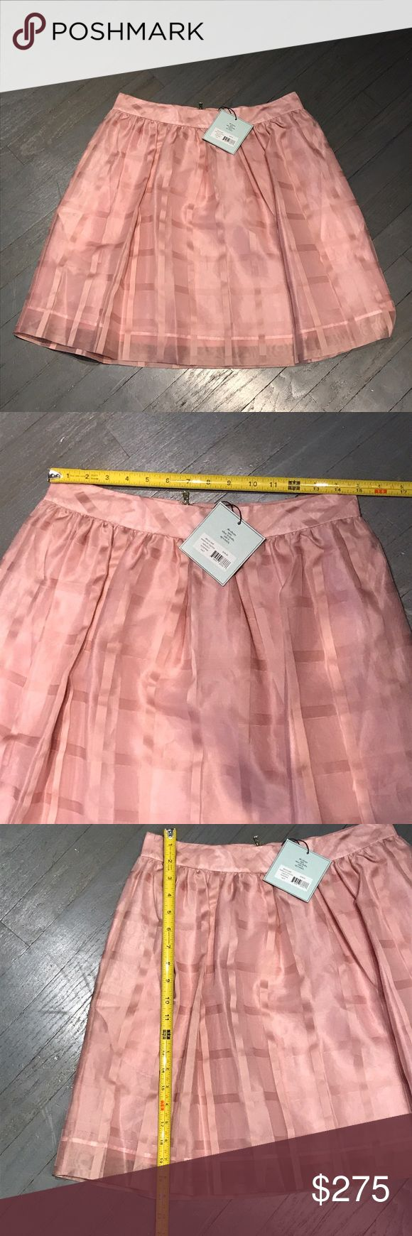 Kate Spade Madison Avenue Pink Briggs Skirt Kate Spade Madison Avenue Briggs Skirt in Pink stripe Chiffon kate spade Skirts A-Line or Full