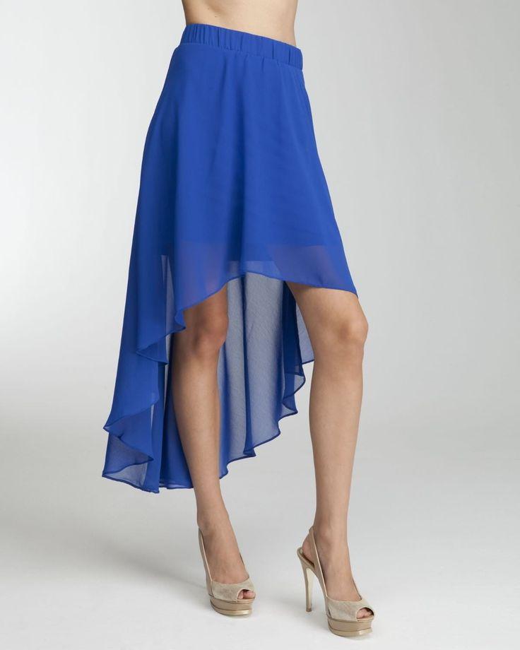 4 Colors High Low Hem Skirt S-3XL