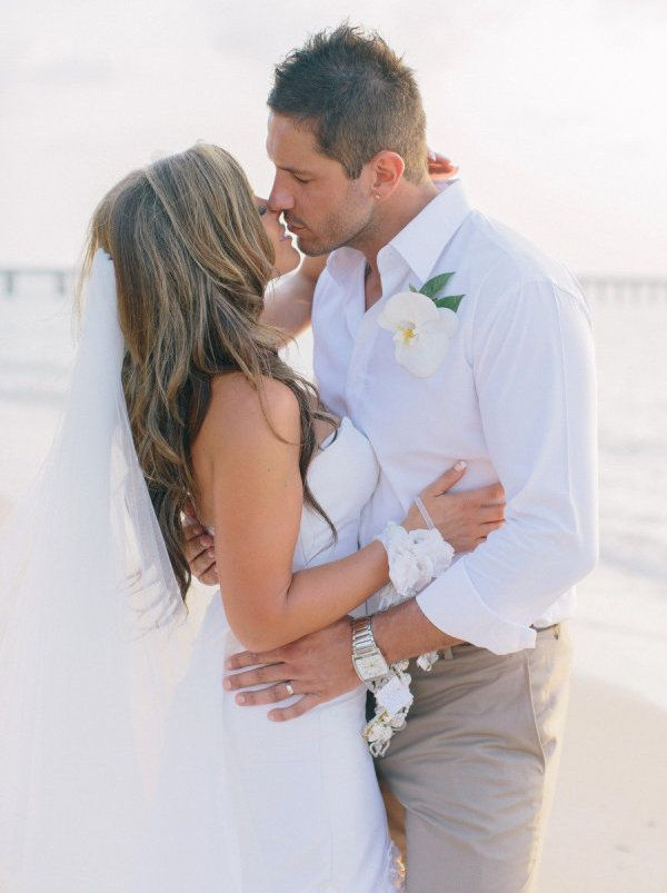 20 Beach Wedding Looks for Grooms & Groomsmen | SouthBound Bride | http://www.southboundbride.com/well-groomed-the-beach-wedding | Credit: Corbin Gurkin/Take Us To Thailand via Style Me Pretty