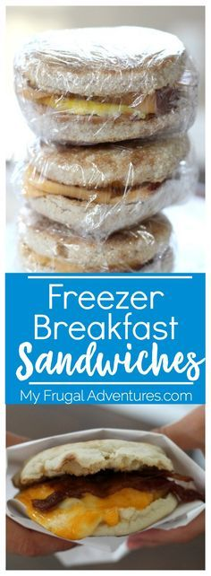 Simple freezer breakfast sandwiches.  Make a big batch for quick, hearty grab n go breakfast.