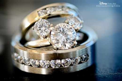 beautiful Disney wedding rings