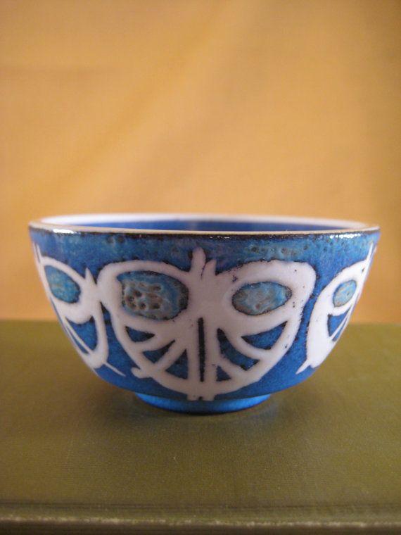 Rare Midcentury Modern Blue Royal Copenhagen by ScratchThatKitsch, $75.00