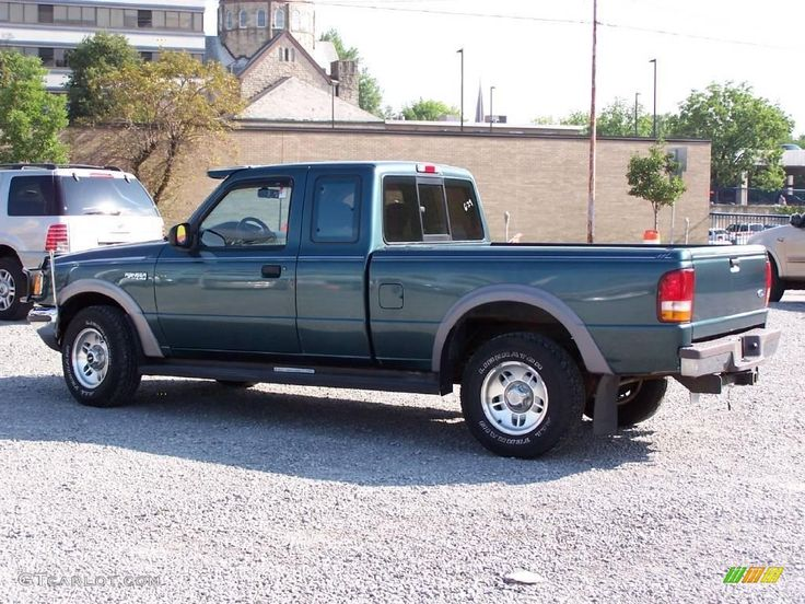 1996 Ranger XLT SuperCab 4x4 - Medium Willow Pearl Metallic / Willow Green photo #2