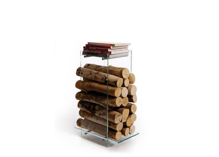 Nuvola- Speicherplatz für Brennholz, Ablage für Bücher aus GLas