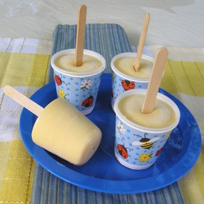 Orange-Cream Popsicle - 3-2-1- treat! Three ingredients, two minutes of your time and one great popsicle.
