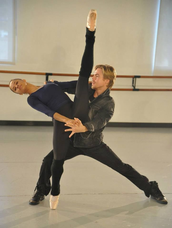 Things were smoking' hot at SBA today with Misty Copeland, Derek Hough, and the rest of the dancers.
