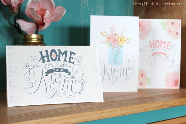 FREE Printable Hand-Lettered Mothers Day cards |By Dawn Nicole