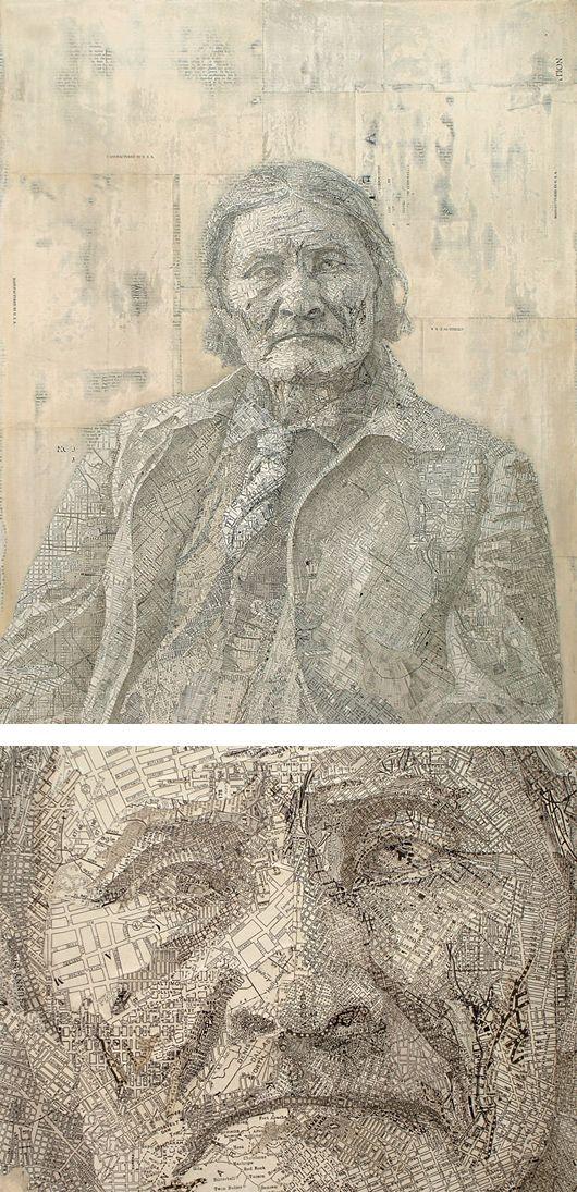 Creative Map Collages - Matthew Cusick