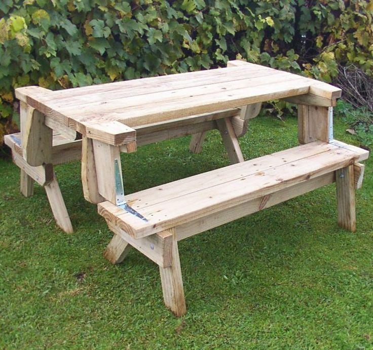 2 piece folding picnic table downloadable plans ($5 value plans)
