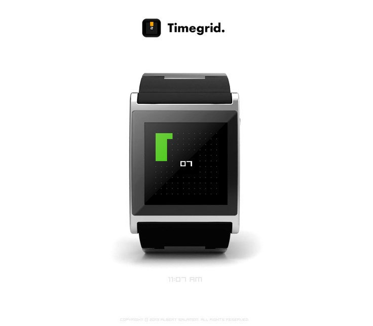 Timegrid - watchface app form I'm Watch.