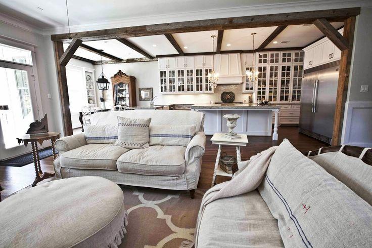 French White Living Room - Cedar Hill Farmhouse