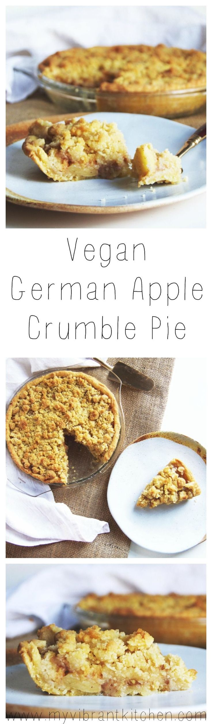 My Vibrant Kitchen | Vegan German Apple Crumble Pie | myvibrantkitchen.com