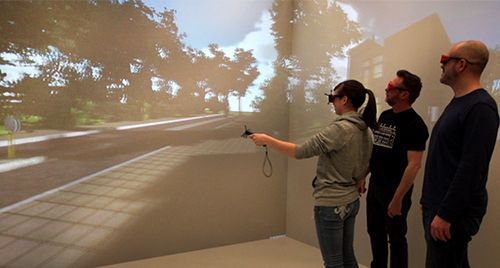 The University of Wyoming uses Mechdyne's getReal3D for Unity to bring virtual worlds into a large-scale immersive environment.
