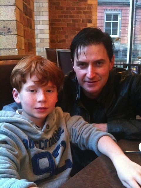 New picture of Richard Armitage with his young costar from Captain America: The First Avenger